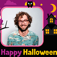 Cartoon Halloween card online